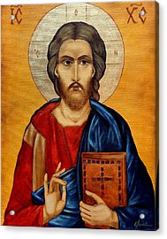 Jesus Acrylic Print by Lena Day