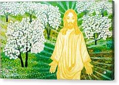 Jesus On Mount Thabor Acrylic Print