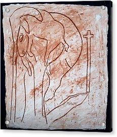Jesus The Good Shepherd - Tile Acrylic Print