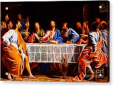 Jesus The Last Supper Acrylic Print by Pamela Johnson