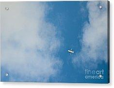 Jet Airplane In Flight Acrylic Print by Eddy Joaquim