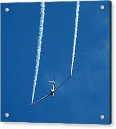 Jet Powered Glider Acrylic Print by Nick Kloepping