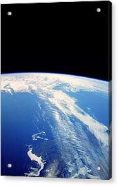 Jet Stream Clouds Acrylic Print by Nasa
