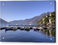 jetty in Ascona Acrylic Print by Joana Kruse