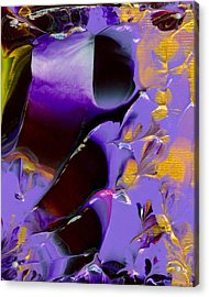 Jeweled Amethyst Acrylic Print by Nan Bilden