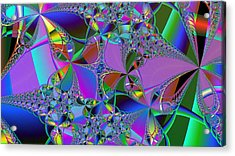 Acrylic Print featuring the digital art Jeweled Fantasy by Ann Peck