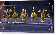 Jewellery With Gems Acrylic Print by Andonis Katanos