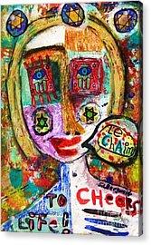 Jewish Angel Acrylic Print by Sandra Silberzweig