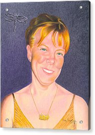 Acrylic Print featuring the drawing Jill Hammond by Ana Tirolese