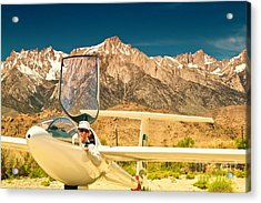 Jim Archer And Kestrel Sailplane Lone Pine California Acrylic Print