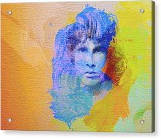 Jim Morisson Acrylic Print by Naxart Studio