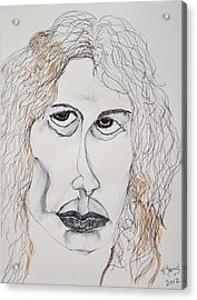Acrylic Print featuring the painting Jim Morrison Contour by Rand Swift