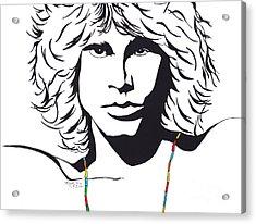 Jim Morrison Acrylic Print by Marty Rice