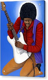 Jimi Hendrix  Acrylic Print by Larry Smart