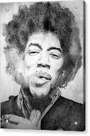 Jimi Hendrix - Medium Acrylic Print by Robert Lance