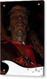 Jimi Hendrix Acrylic Print by Sophie Vigneault