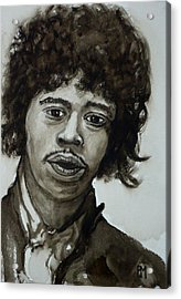 Jimi Acrylic Print by Pete Maier