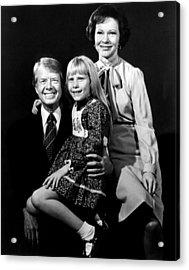 Jimmy Carter, Amy Carter And Rosalynn Acrylic Print by Everett