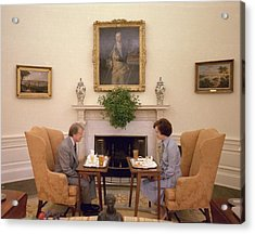 Jimmy Carter And Rosalynn Carter Having Acrylic Print by Everett