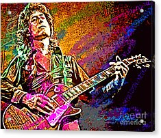 Jimmy Page Les Paul Gibson Acrylic Print