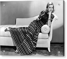 Joan Bennett, Paramount Pictures Acrylic Print by Everett