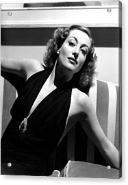Joan Crawford, 1936, Photo By Hurrell Acrylic Print