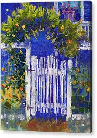 Acrylic Print featuring the painting Joan's Gate by Gertrude Palmer