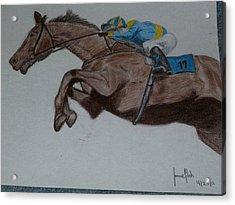 Jockey Acrylic Print by Jamie Mah