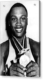 Joe Frazier Holding Olympic Heavyweight Acrylic Print by Everett