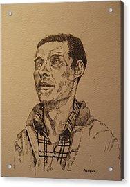 Joe Acrylic Print by Ray Agius