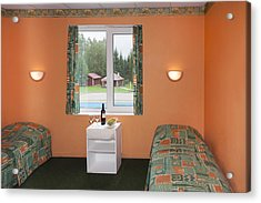 Jogeva County A Bedroom With Two Beds Acrylic Print by Jaak Nilson
