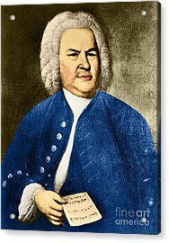 Johann Sebastian Bach, German Baroque Acrylic Print by Photo Researchers