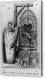 John Brown Exhibiting His Hangman, 1863 Acrylic Print by Photo Researchers