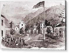 John Browns Harpers Ferry Insurrection Acrylic Print by Everett