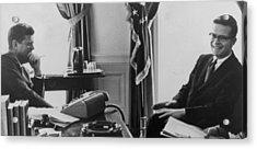 John F. Kennedy 1917-1963 And Theodore Acrylic Print