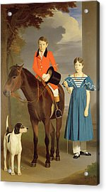 John Gubbins Newton And His Sister Mary Acrylic Print by Robert Burnard
