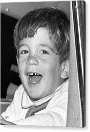 John Kennedy Jr. Smiles Acrylic Print by Everett