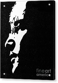 John Lennon Hi Contrast Acrylic Print by Kenneth Regan