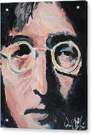 John Lennon  Acrylic Print by Jon Baldwin  Art
