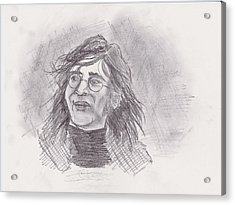 Acrylic Print featuring the drawing John Lennon- Legend by Chris  DelVecchio