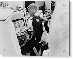 John Lewis Being Ushered Into A Police Acrylic Print by Everett