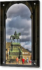 John Of Saxony Monument - Dresden Theatre Square Acrylic Print by Christine Till