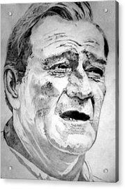 John Wayne - Large Acrylic Print by Robert Lance