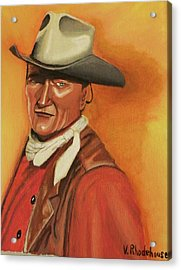 John Wayne Acrylic Print by Victoria Rhodehouse
