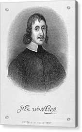 John Winthrop The Younger Acrylic Print by Granger
