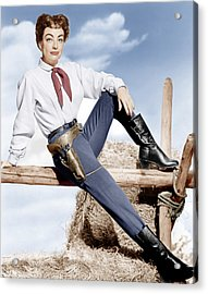 Johnny Guitar, Joan Crawford, 1954 Acrylic Print by Everett