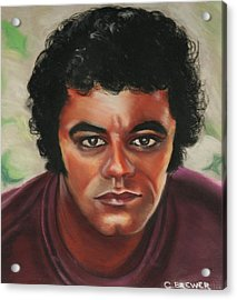 Johnny Mathis Acrylic Print by Cyndi Brewer