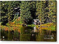 Johnny Sack Cabin II Acrylic Print by Robert Bales