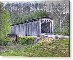 Johnson Creek Covered Bridge Acrylic Print