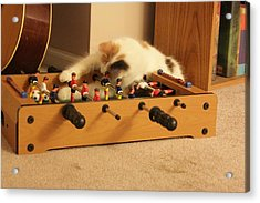 Acrylic Print featuring the photograph Jolie-boo Foosball by Rdr Creative